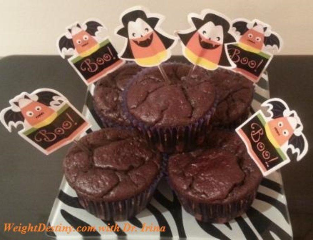 Dark Chocolate Cupcakes for Halloween
