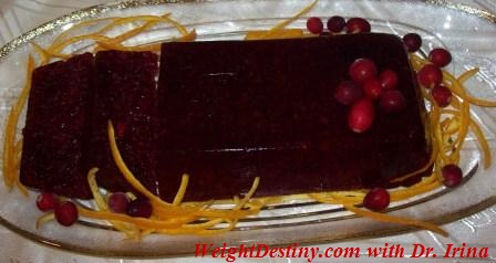 Low GI recipes_Cranberry Terrine_healthy desserts