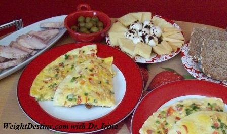 Cheese Vegetables Omelet is perfect Low Glycemic breakfast, lunch, light dinner