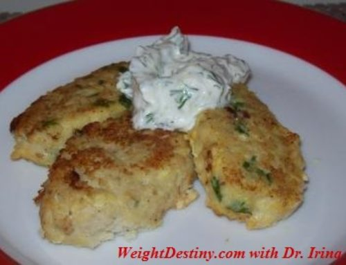 Fish Cakes with Tzatziki Sauce