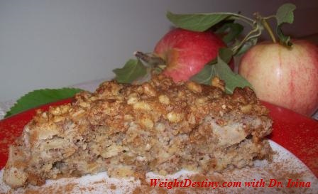 Low Glycemic Index recipes_Easy Healthy Desserts_Apple Walnuts cake