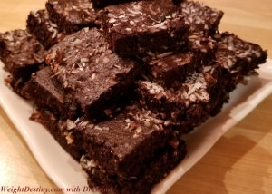 Healthy desserts for losing weight Carob brownies gluten free sugar free low gi