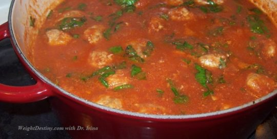 Healthy Meatballs with Tomato Sauce_Low GI recipes_easy to make entrees